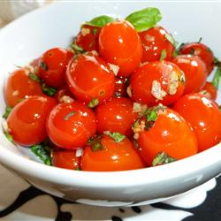Cherry-Tomatoes and Basil