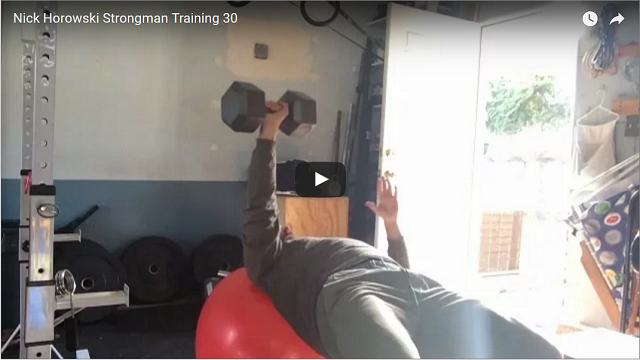 Nick Horowski Strongman Training 30