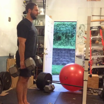 Nick Horowski Strongman 140 Deadlift Training