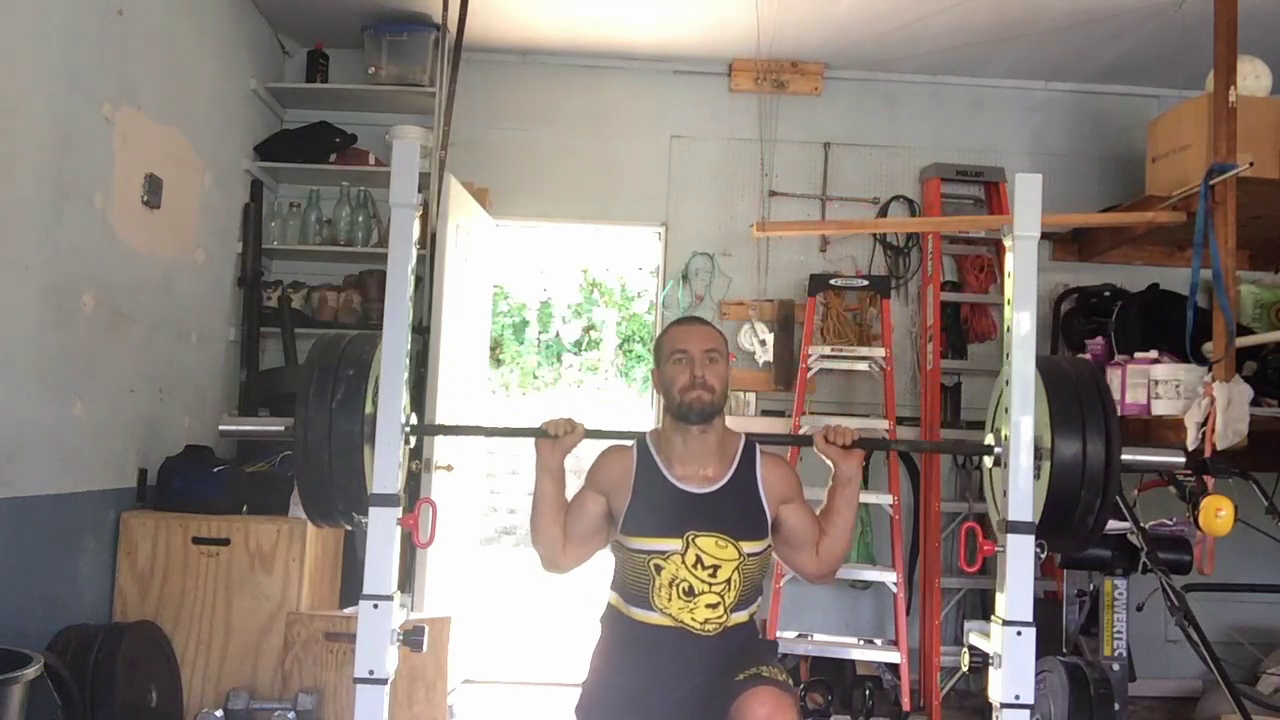 Nick Horowski Strongman 151 Squat Training