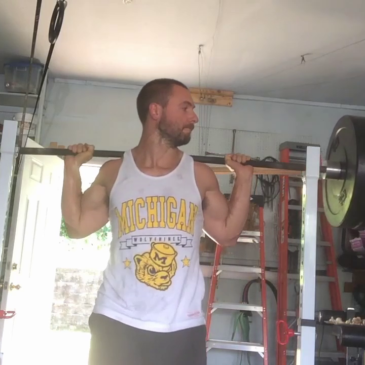 Nick Horowski Strongman 155 Log and Squat Training