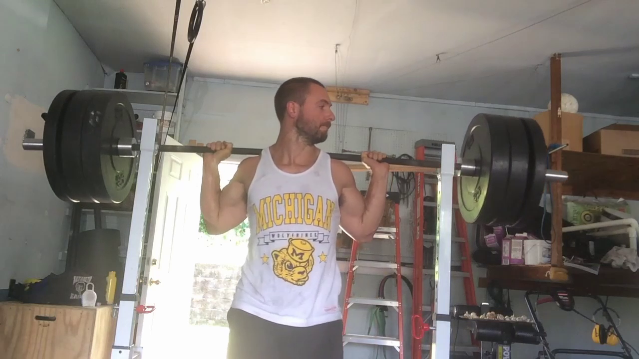 Nick Horowski Strongman 155 Log and Squat Training