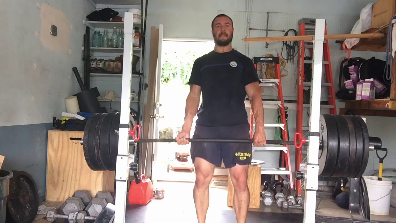 Nick Horowski Strongman 160 Deadlift Training