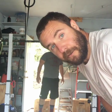 Nick Horowski (with friend Travis) Strongman Training 172 Lower Body Training