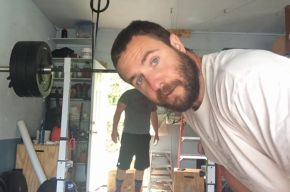 Nick Horowski (with friend Travis) Strongman Training 172 Lower Body Training